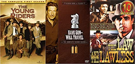 When the Gun Ruled the West Television Collection - Young Riders Season One, Have Gun Will Travel, Complete Second Season & The Lawn and the Lawless 10-Movie Collection