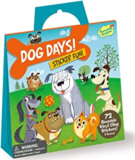 Peaceable Kingdom Sticker Fun Dog Days Reusable Sticker Tote