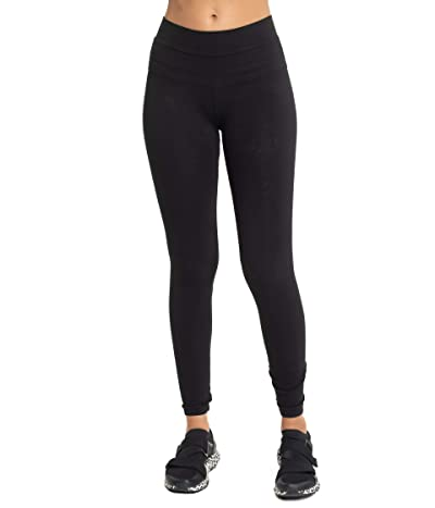 Hard Tail Organic High-Rise Ankle Leggings (Black) Women