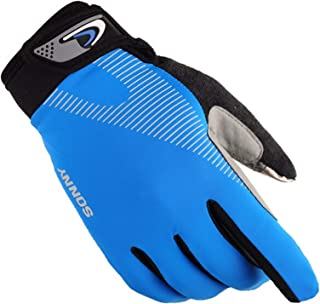 Blisfille Guantes para Gimnasio Mujer Guantes Moto Retro Guantes Invierno Moto Impermeable Guantes Silicona,Medio Dedo Gris,Guantes M-L