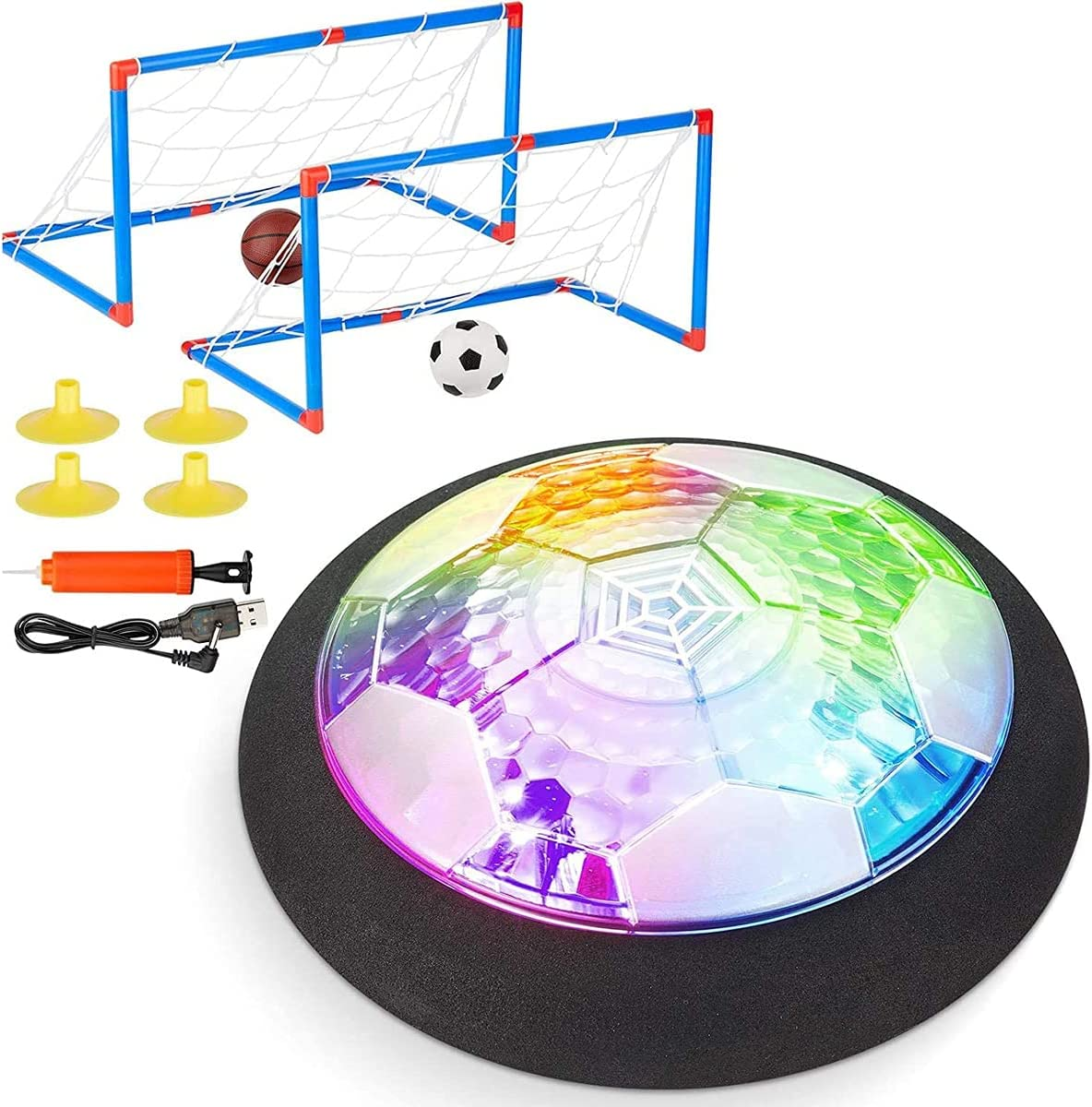 Soccer Ball At the price of surprise Set with 2 OFFicial Rechargeable Goals - Indoor Air