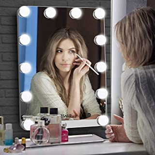 VESAUR Hollywood Lighted Makeup Mirror with 12x12W Dimmable LED Bulbs, Smart Touch 20