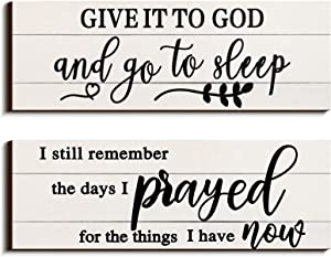 I Still Remember the Days I Prayed Hanging Wall Decor Give It To God Wood Home Decor Go To Sleep Bedroom Decor Wooden Letters Bedroom Wall Hanging Sign for Farmhouse Living Room Home Decor