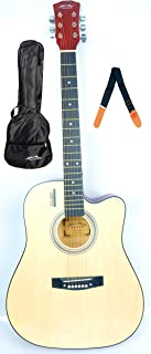 41inch MIKE Acoustic Guitar with Bag and Strap (natural)