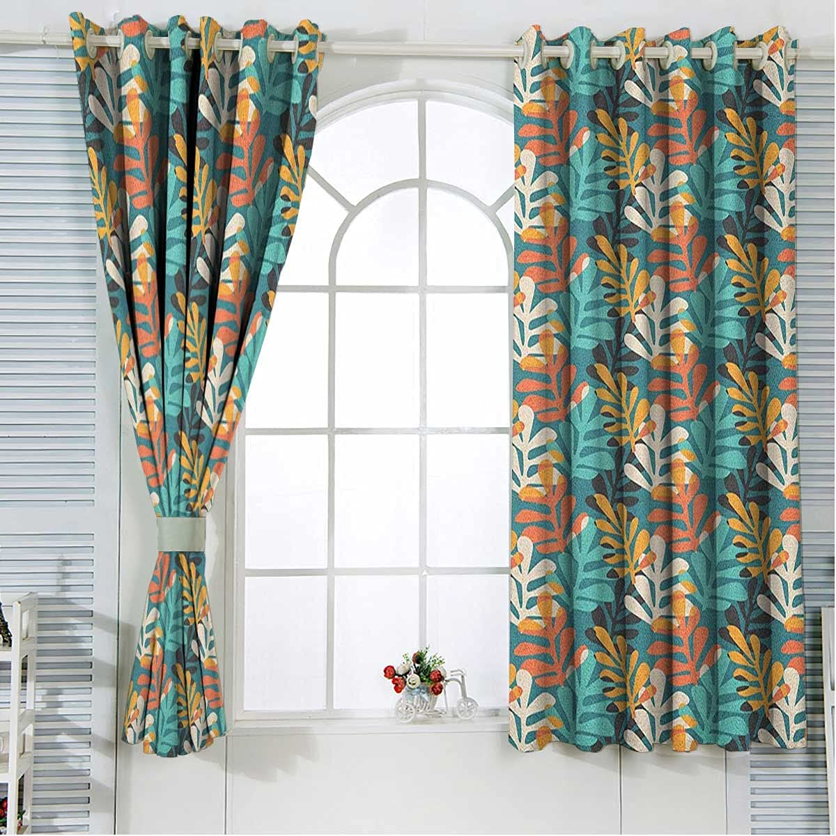 Pastel Room Max 72% OFF Choice Darkening Curtains 72 Inches Length Grom Multicolor