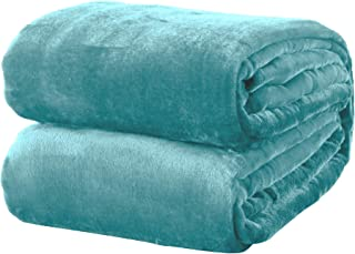Ultra Velvet Plush All-Season Super Soft Luxury Bed Blanket. Lightweight and Warm for Ultimate Comfort. Marlo Collection (Full/Queen, Blue Surf)