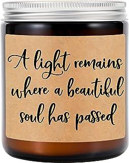 شموع معطرة برائحة اللافندر من جي إس بي واي - هدايا تذكارية، شمعة تذكارية - آسف على هدايا فقدانك، هدية التعاطف، هدايا تذكار...
