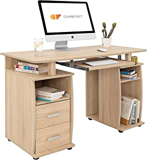 comprar comparacion COMIFORT T05S - Mesa de Ordenador, Escritorio, Mesa de Oficina, 115x55x76 cm, Color Roble Sonoma
