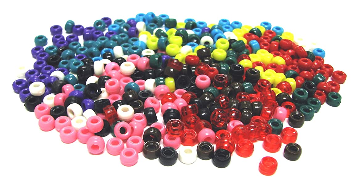 Linpeng 5000-Piece Pony Beads, 4 by 7mm, Assorted Colors, Mix Colors, Content may vary (with FREE spacers and charms)