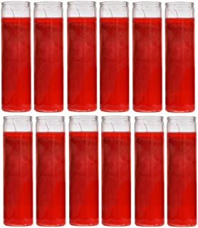 Ginger Wholesale Blessed Sanctuary Series Assorted Religious Candle, Red, Case of 12 (1 Case)