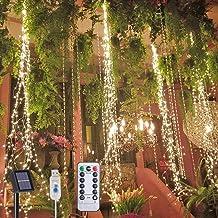 200 LED Outdoor Solar Lights 8 Knipperende Modes Zonne/USB Aangedreven IP65 Waterdichte Koperdraad Waterval Lichten Afstan...