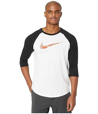 Nike Dry Tee Swoosh 3/4 Raglan (White) Men