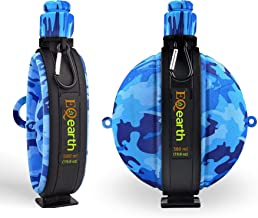 EQearth Silicone Foldable Water Bottle with Compass –Army & Navy Design, Outdoor Indoor Sport Food-Grade Safe, BPA Free & Non-Toxic Eco-Friendly, Compact, Collapsible, Light Weight, Hot & Cold Drinks
