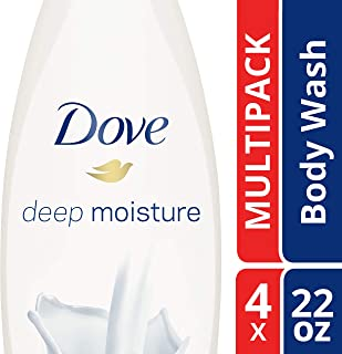 Dove  Deep Moisture Body Wash 22 oz, Pack of 4