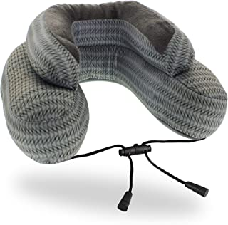 Cabeau Evo Microbead Airplane Travel Neck Pillow - Ultra Comfortable Travel Pillow with Microbeads - 360 Head & Neck Support - Grey Arrow