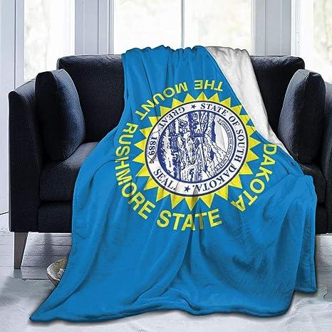 Jeili South Dakota State Flag Home Fleece Throw Blanket Fuzzy Flannel Cozy Warm Luxury Blanket 60 X50 Home Kitchen