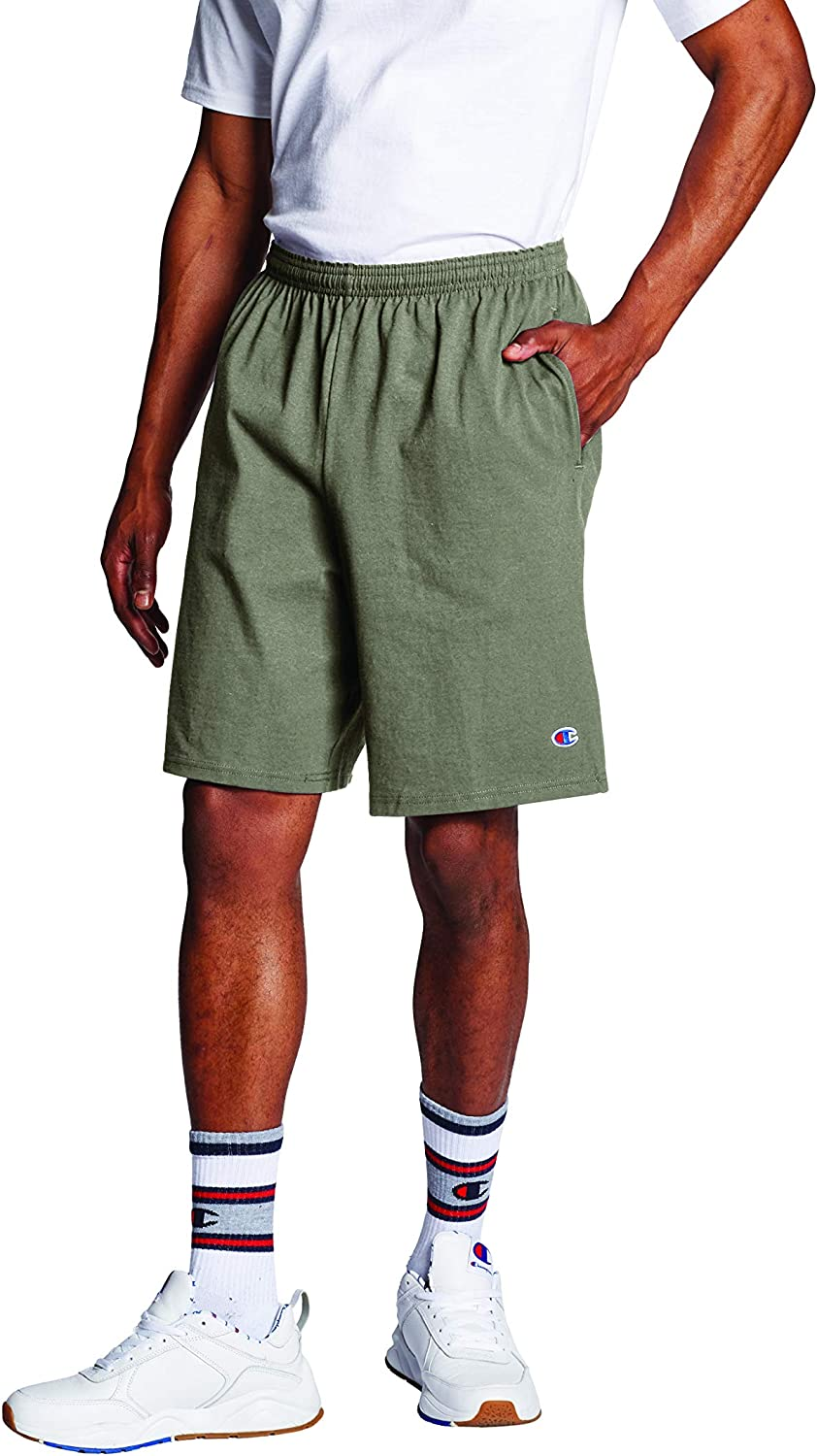 """Champion Men's 9"""" Jersey Short with Pockets at  Men's Clothing store"""