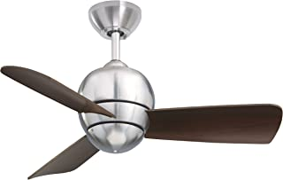 Emerson Modern Ceiling Fans CF130BS Tilo Low Profile/Hugger Indoor Ceiling Fan with 30-Inch Blades, Light Kit Adaptable, Brushed Steel Finish