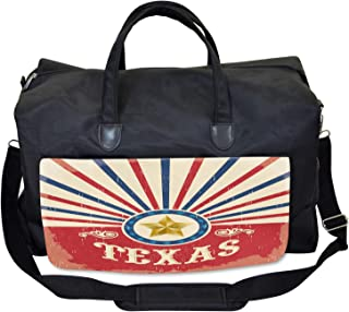 Lunarable Texas Gym Bag, Cowboy Style Retro Stripes, Large Weekender Carry-on