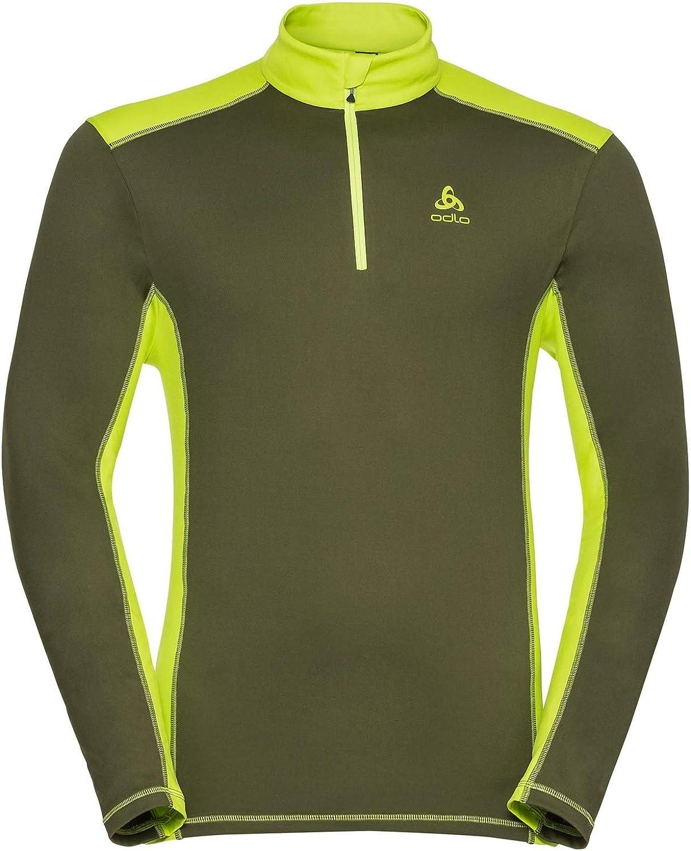 ODLO Mens Midlayer 1//2 Zip Steeze Sweater