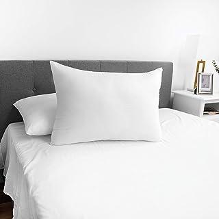 SensorPEDIC Embossed SensoSoft Fiber Filled Bed Pillow, Pack of 2, Jumbo, White