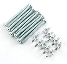 RuiLing 10 Sets Screw Bolts with Wing Nut Kit Zinc Plated Carbon Steel Mounting Hardware Fitting Fastenings- 10pcs 1/4