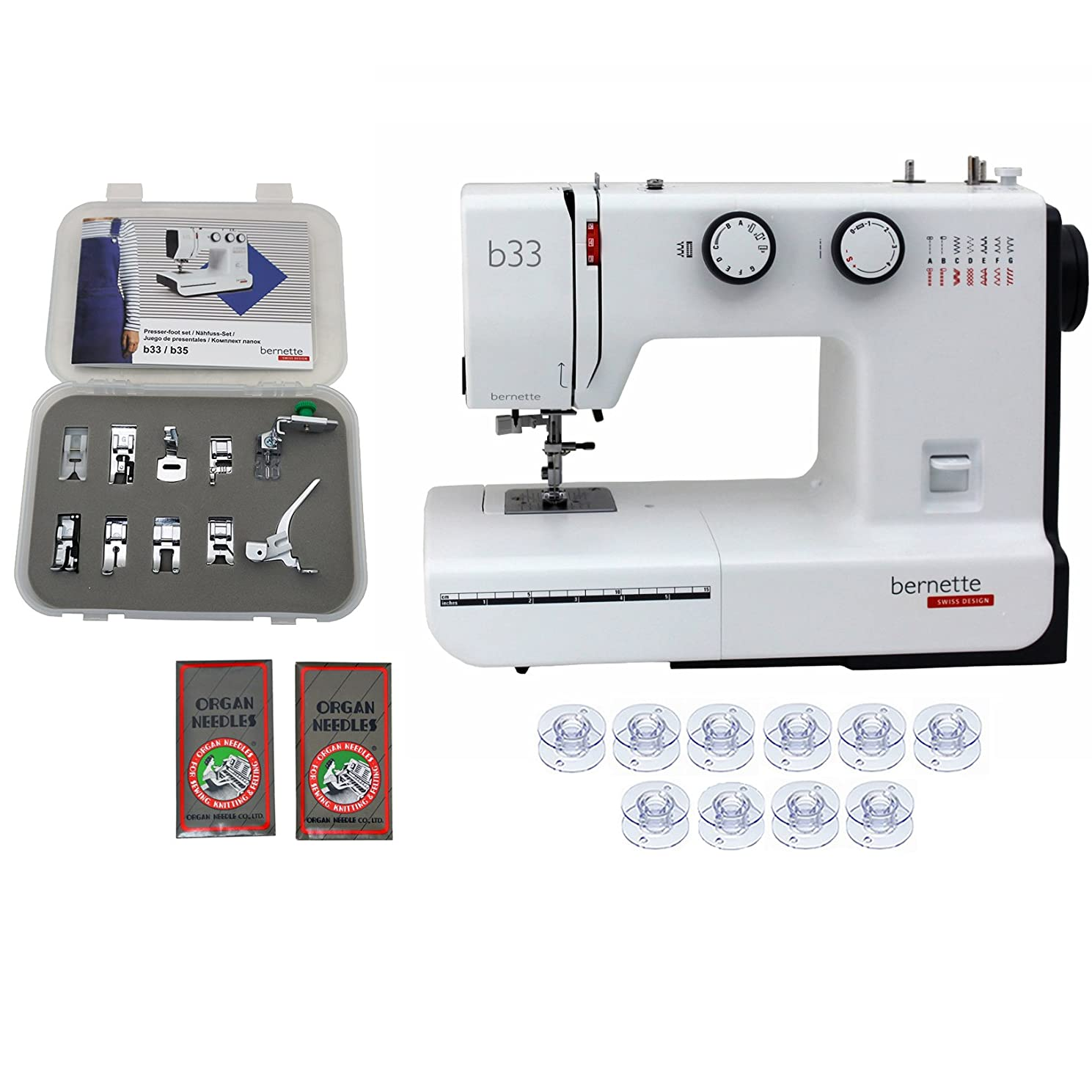 Bernette 33 Swiss Design Sewing Machine with Exclusive Bundle