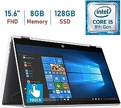 2019 HP 15.6-inch X360 2-in-1 Touchscreen FHD (1920x1080) IPS WLED-Backlit Display Laptop PC, 8th Gen Intel Quad-Core i5-8250U, 8GB DDR4 RAM, 128GB SSD, Bluetooth, HDMI, B&O Play, Windows 10