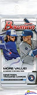 2020 Bowman MLB Baseball EXCLUSIVE Factory Sealed JUMBO FAT Pack with 19 Cards! Look for Rookie Cards & Autos of JASSON DOMINGUEZ, Bobby Witt Jr, Robert Puason, Bo Bichette, Gavin Lux & More! WOWZZER!