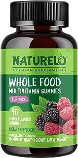 NATURELO Whole Food Vitamin Gummies for Kids - Organic Great Tasting Berry Flavor - Non - GMO - All Natural Vitamins & Min...