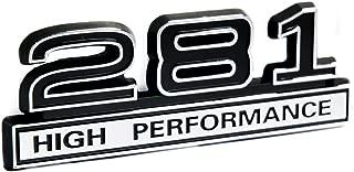 281 4.6L V8 High Performance Emblem with Black & Chrome Trim