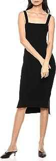 Women's Amelia Square Neck Strappy Bodycon Midi Tank Dress