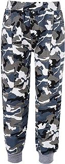 iiniim Kids Boys Cotton Camouflage Sweatpants Sports Pants Trousers Jogger Pants Summer Fall Casual Wear Activewear