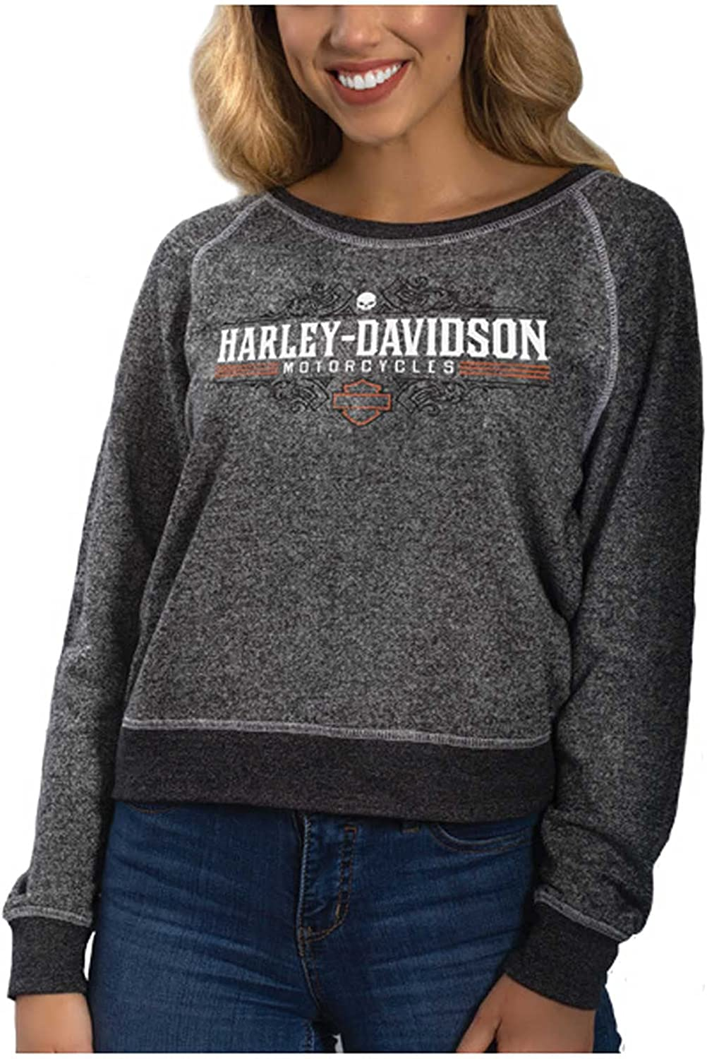 Ranking TOP13 Harley-Davidson Women's Free shipping on posting reviews Fearless Long Sleeve Shirt Terry French