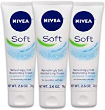 NIVEA Soft Moisturizing Crème - All-In-One Cream For Body, Face and Hands - Travel Size - 2.6 oz. Tube (Pack of 3)