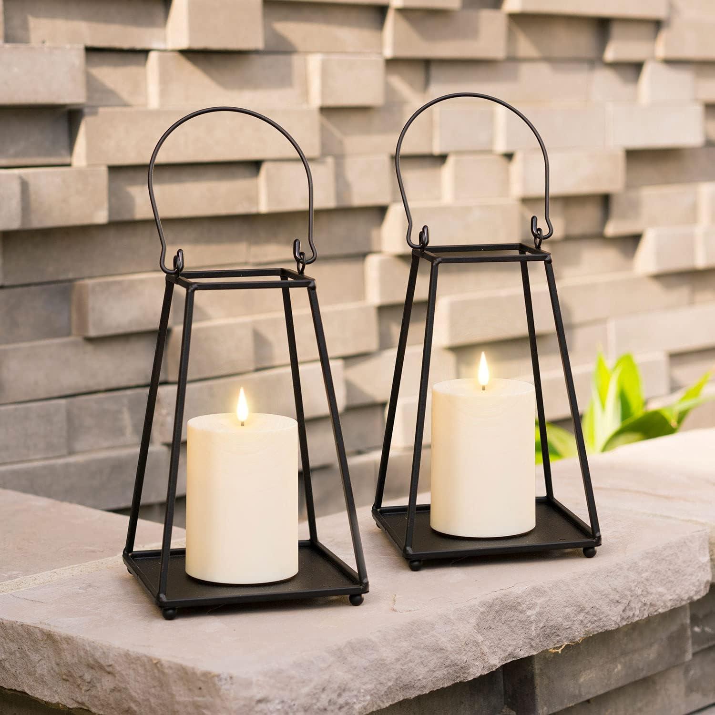 Black Metal Candle Large discharge sale Lantern - Set 2 Sale SALE% OFF Lanterns Small of Decorative