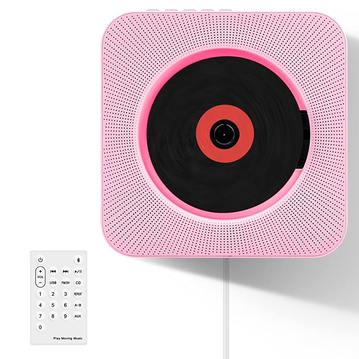 少数あいまいな行方不明CDプレーヤー Bluetooth 壁掛け 携帯式 音楽プレーヤー リモートコントロール