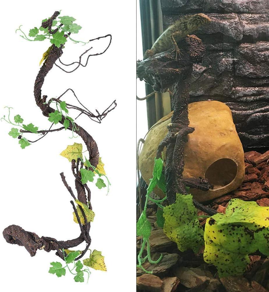 YUIOLIL Lizard Gecko Reptile Hide Vine, ratán Artificial ...