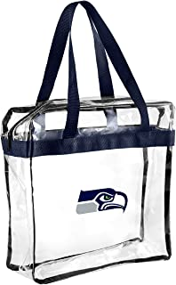 FOCO NFL Seattle Seahawks Clear Messenger Bag, Team Color, OS