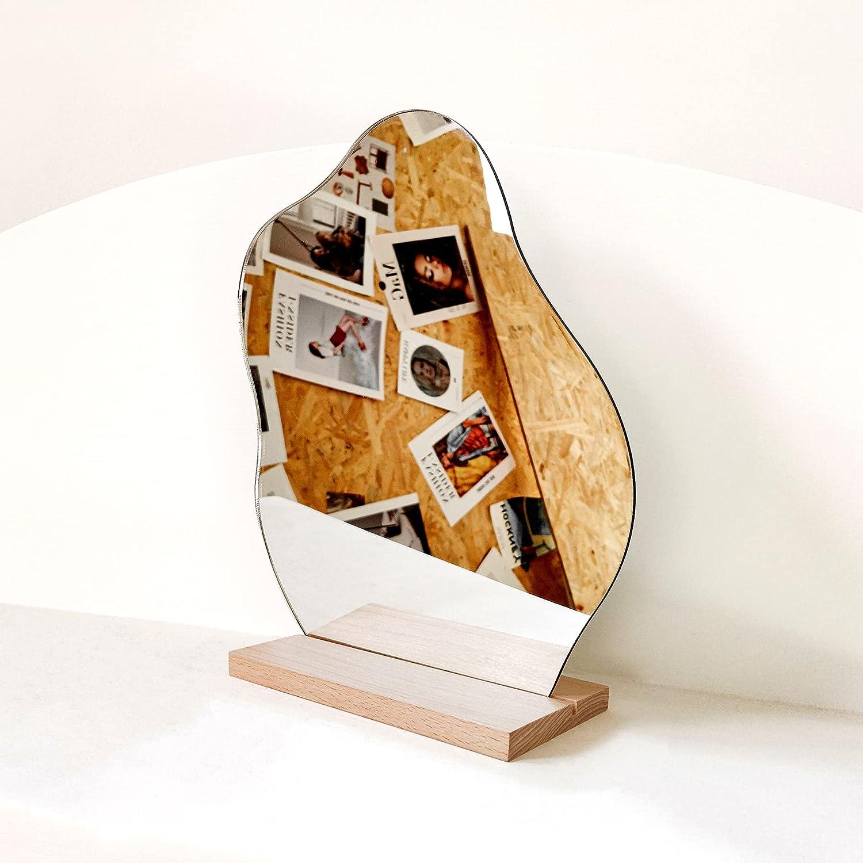 Aesthetic Room Decor Locker Mirror, Decorative Desk Mirror, Cute Room Decor Aesthetic Table Frameless Mirror, Asymmetrical Cloud Mirror