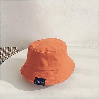 Baby Hat Summer Leisure Solid Bucket Hat Unisex Baby Sun Cap Children Boy Caps Girl Fisherman Hats (Color : Orange, Size :...