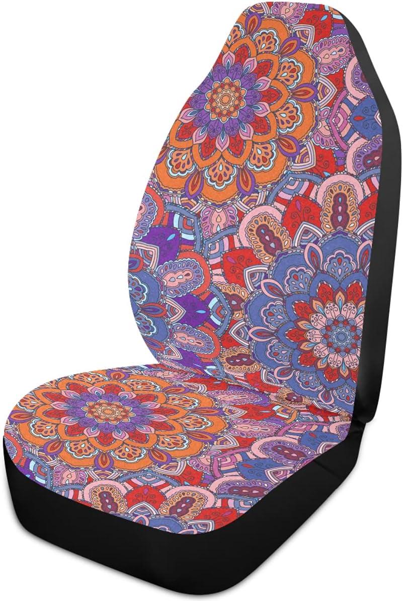 Oarencol Mandala Flower Car Seat Unive Max 74% OFF Covers Boho Style Florals Bargain
