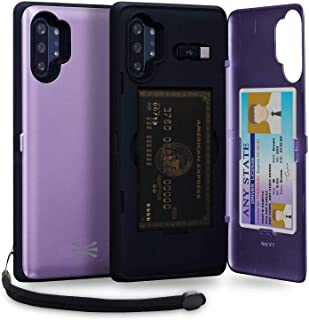TORU CX PRO Note 10 Plus Wallet Case Purple with Hidden Credit Card Holder ID Slot Hard Cover, Strap, Mirror & USB Adapter...
