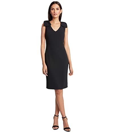Tahari by ASL Petite Knit Day Dress (Black) Women