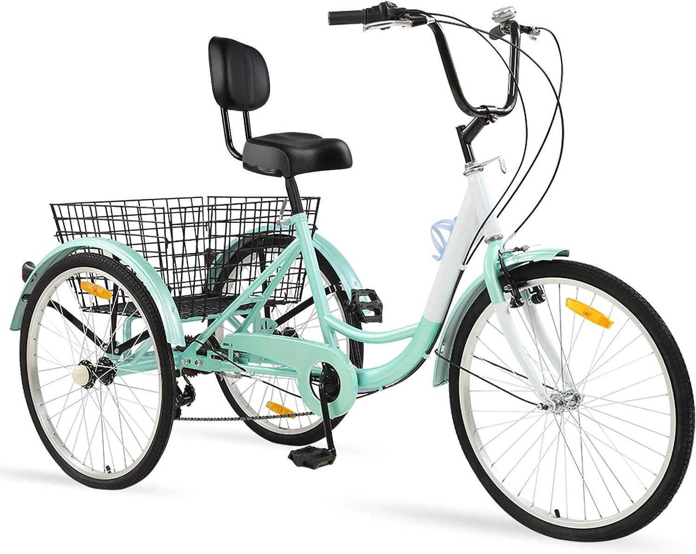 Sibosen Adult Arlington Mall Tricycle 7 Speed Trike Three 26