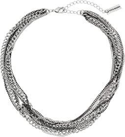 Knot Design Multi Strand Chain Necklace