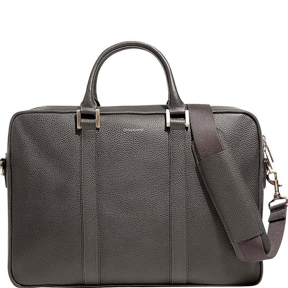 Hook /& Albert Olive Leather Briefcase Alpine Collection Laptop bag