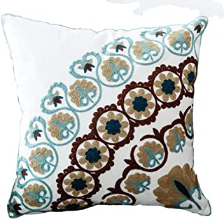 Bohemia Exotic Embroidery Decorative Pillow Cover 18×18 – Exquisite Handmade..