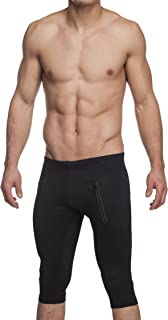 Gary Majdell Sport Men's Active Yoga Capri Pant with Front Zipping Pockets