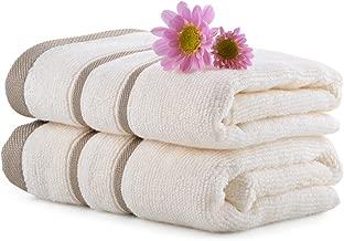 Mark Home 100% Cotton 500 GSM Simply Soft Zero Twist Hand Towel Ivory